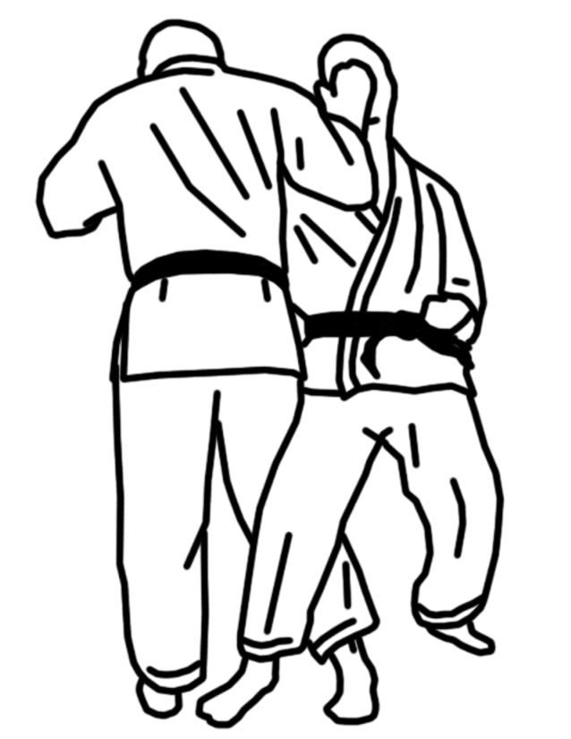 dessin à colorier de karaté en ligne