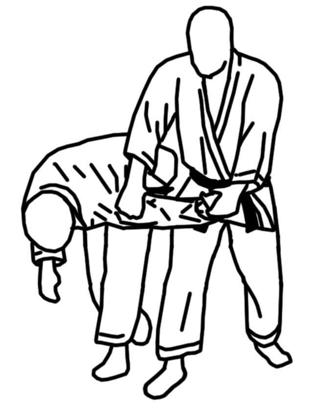 dessin à colorier karate a imprimer