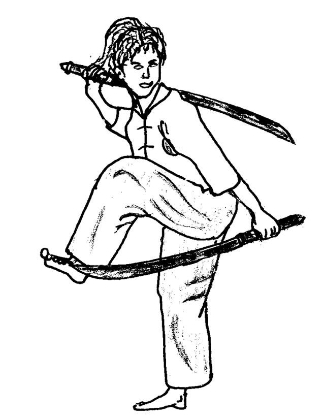 dessin de karaté kid