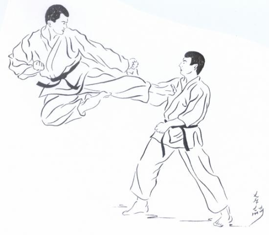 dessin karate kid imprimer