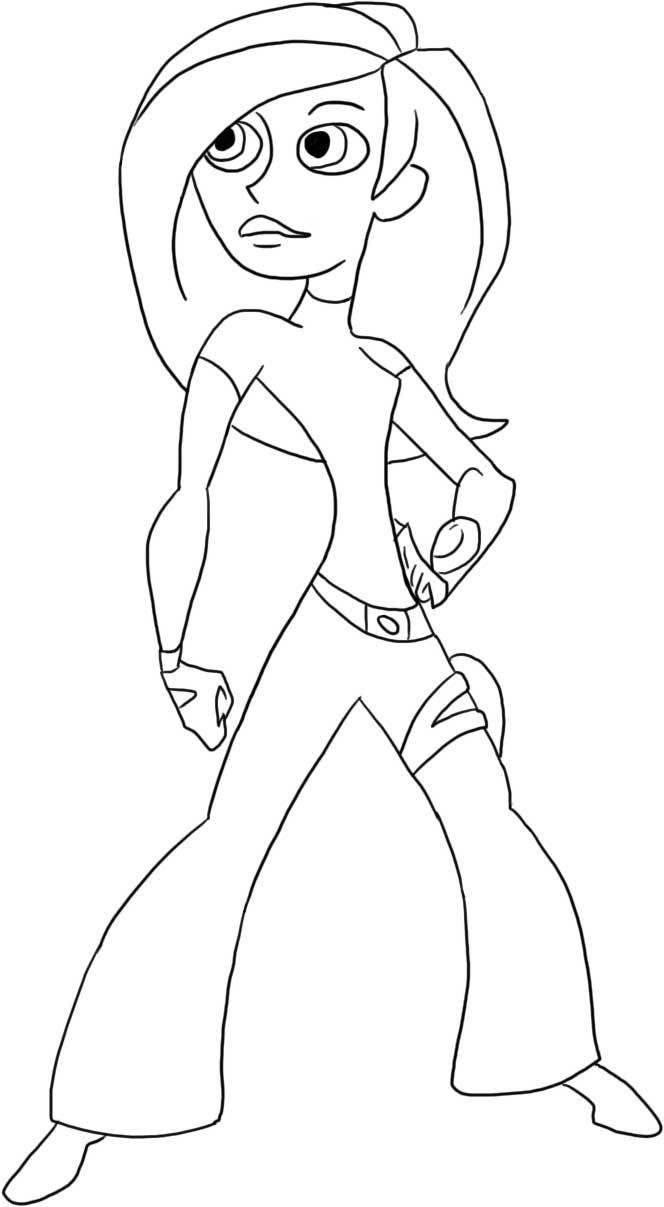 coloriage à dessiner de kim possible