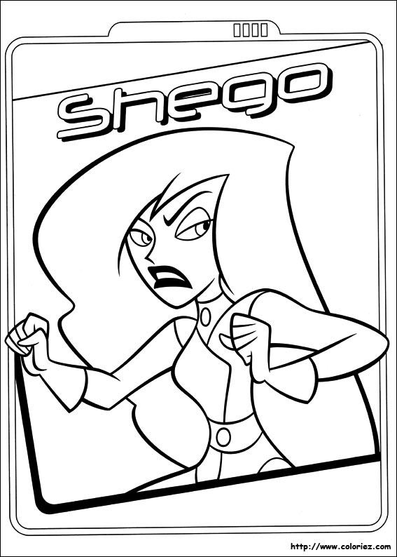 coloriage kim possible imprimer