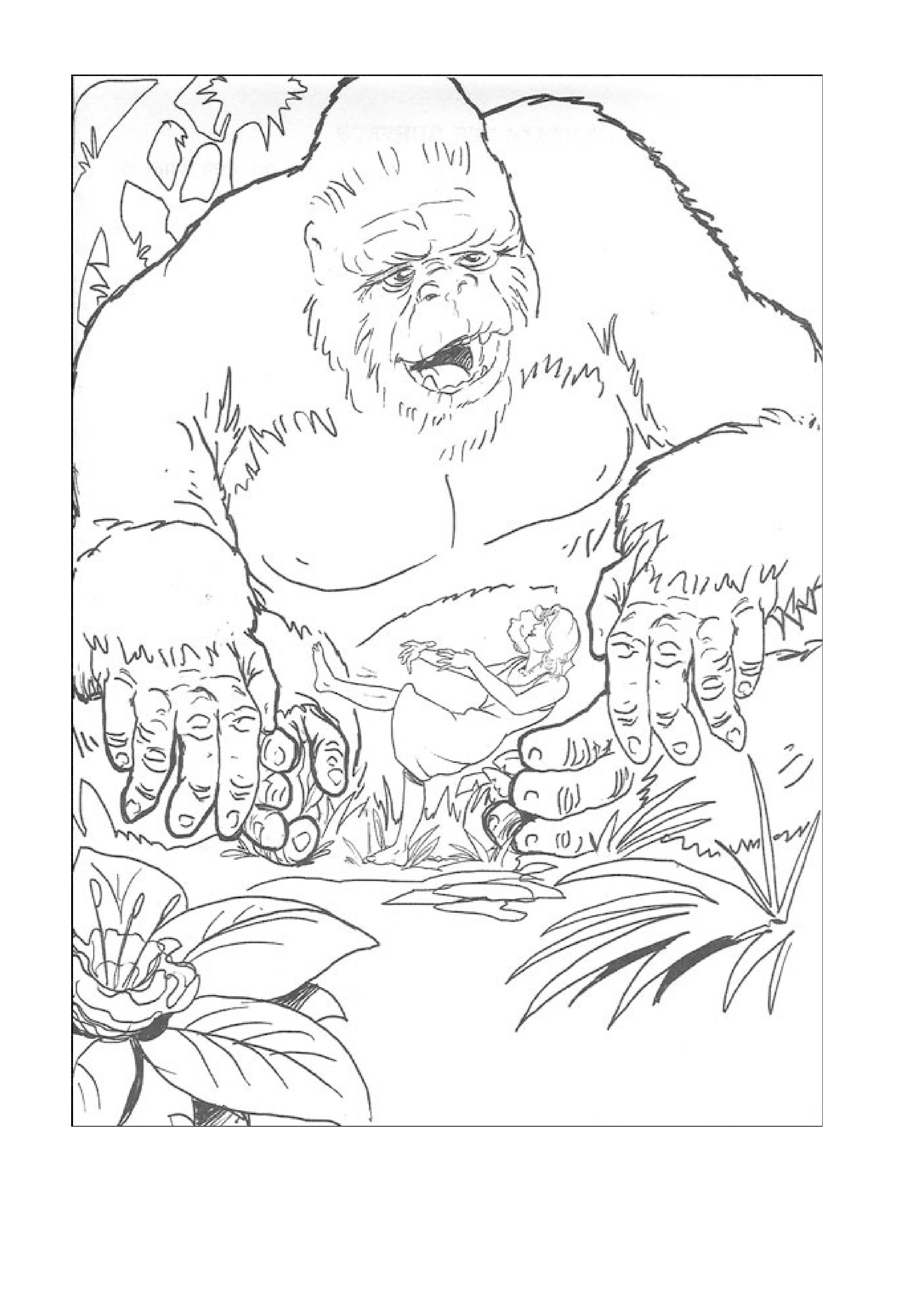 coloriage à dessiner de king kong a imprimer