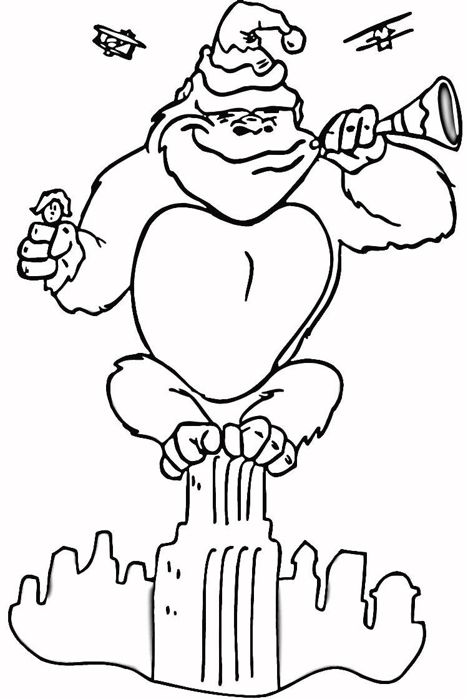 Dessus Coloriage King Kong A Imprimer | Imprimer et ...