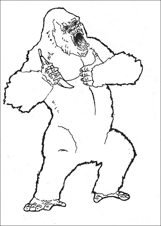 coloriage � dessiner don king kong