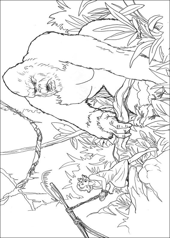 dessin à colorier de king kong a imprimer