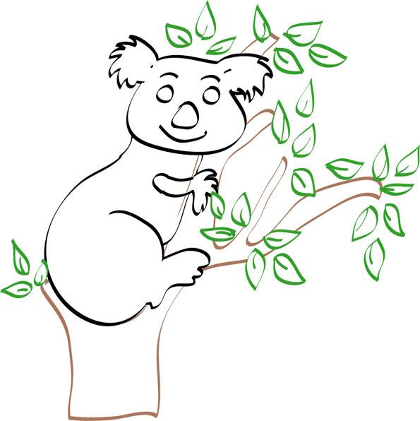 dessin bébé koala