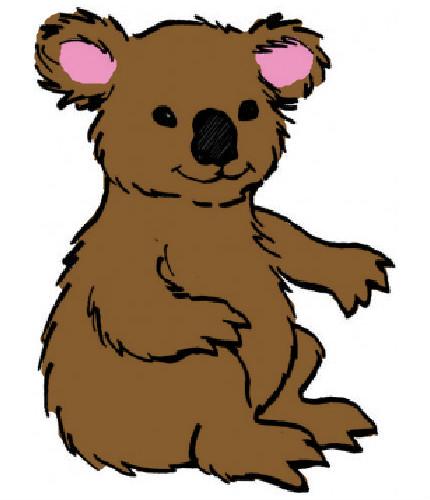 coloriage à dessiner de koala en ligne