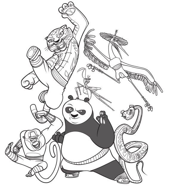 coloriage kung fu panda