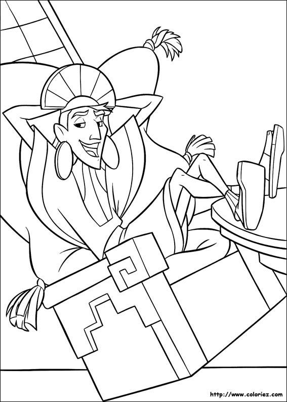 dessin � colorier kuzco � imprimer