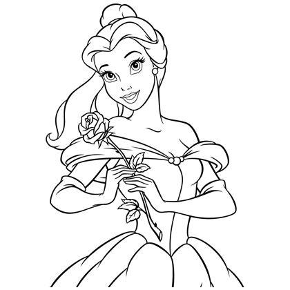 coloriage princesse disney la belle et la bete
