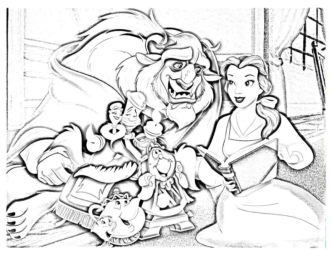 Coloriage dessiner de princesse la belle et la bete - Coloriage de la belle et la bete ...