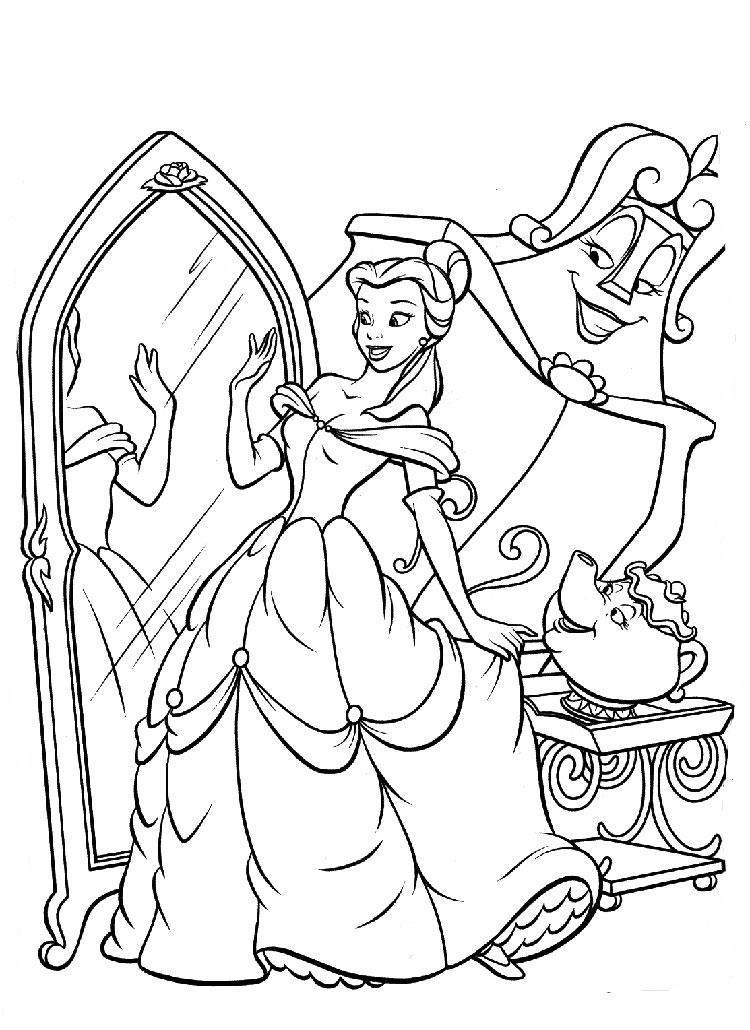www.coloriage la belle et la bete