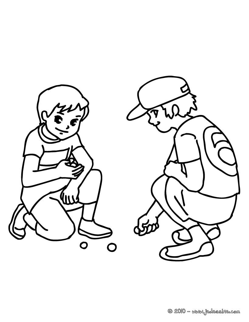 coloriage à dessiner la cour de récré