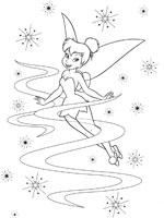 dessin à colorier fée clochette ondine