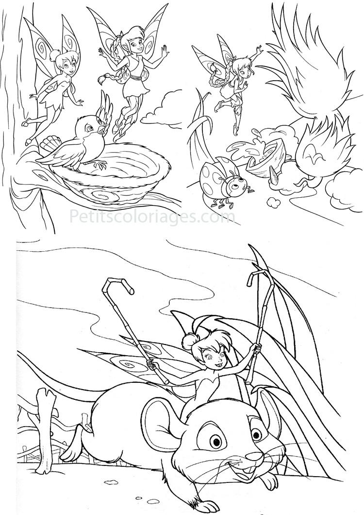 dessin à colorier fée clochette noel
