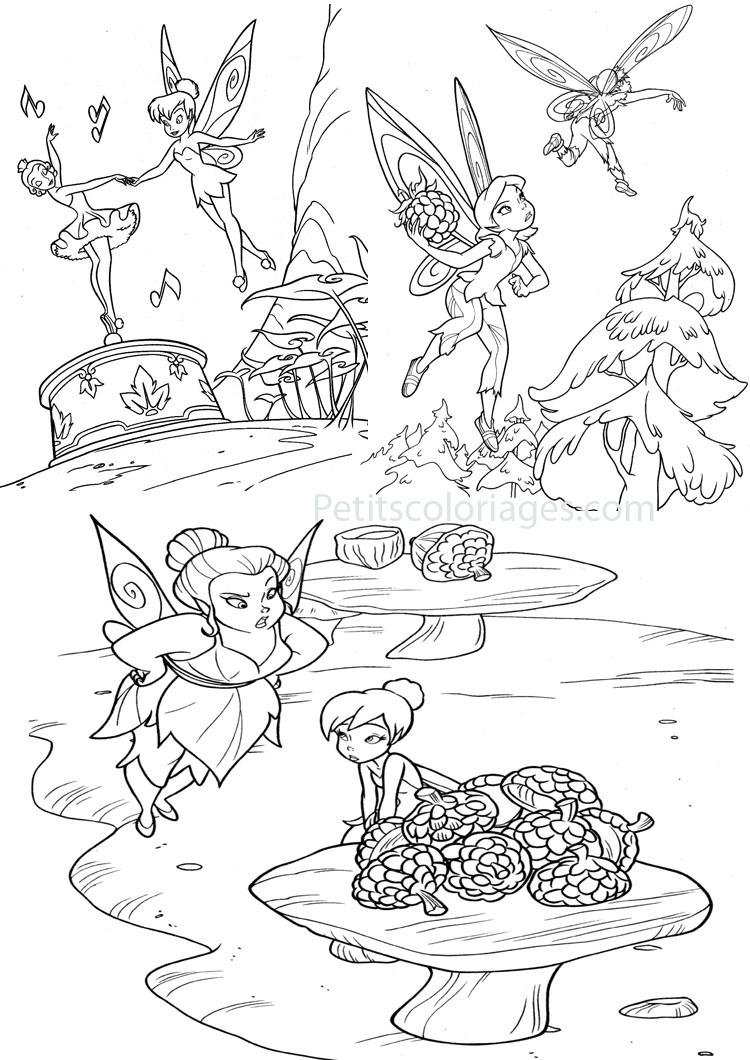 Hugo l 39 escargot coloriage dessiner f e clochette - Fee clochette a colorier ...