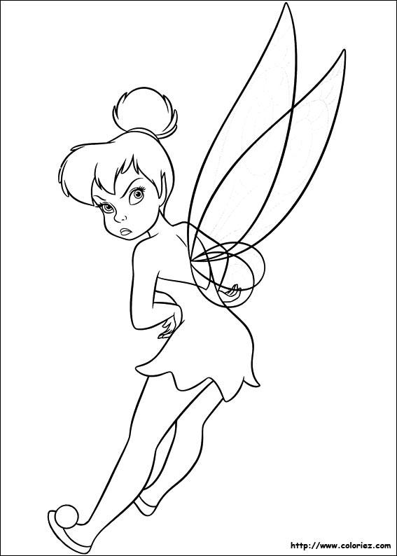 jeu dessin à colorier fée clochette