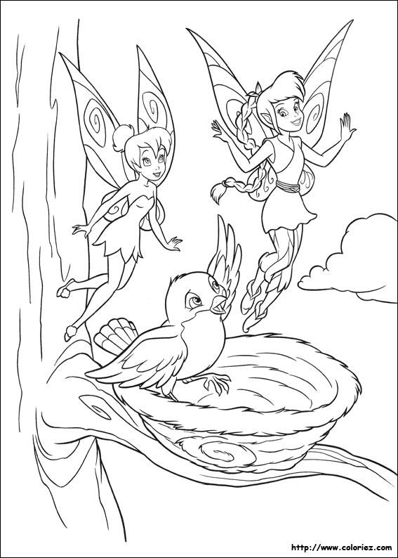 coloriage à dessiner magique de la fée clochette