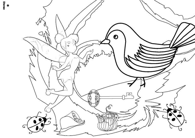 coloriage la fée clochette gratuit