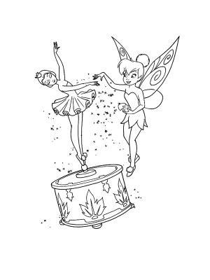 dessin à colorier la fée clochette et le secret des fées