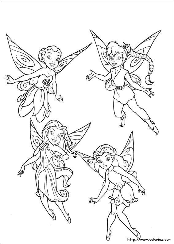 dessin à colorier fée clochette cristalline