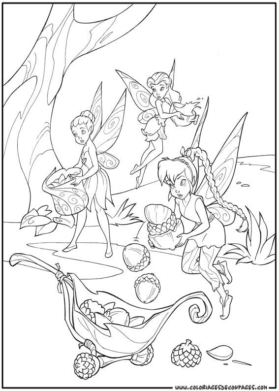 coloriage à dessiner de la fée clochette et sa soeur
