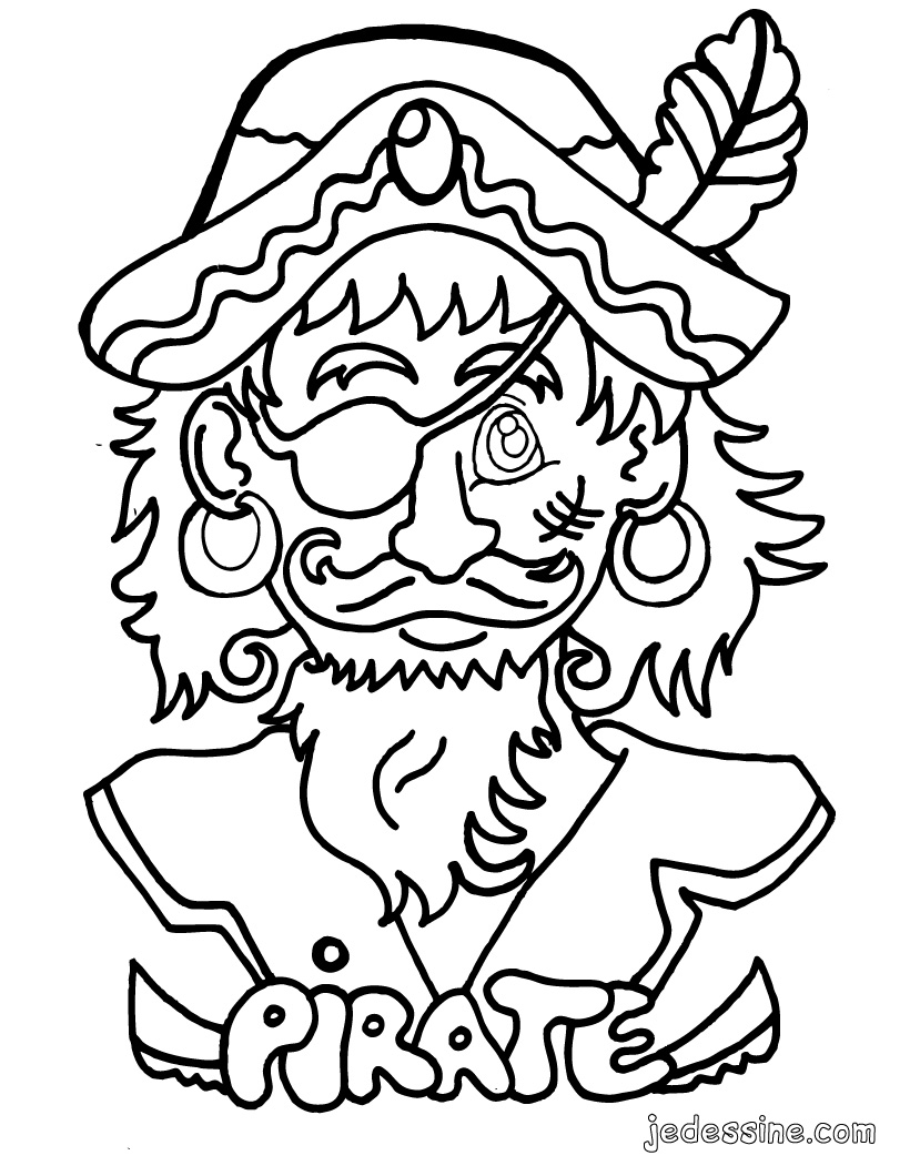 coloriage à dessiner la famille pirate