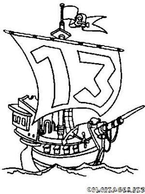 coloriage à dessiner a imprimer de la famille pirate