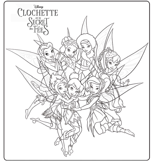 20 dessins de coloriage la fee clochette a imprimer - Coloriage fee clochette ...