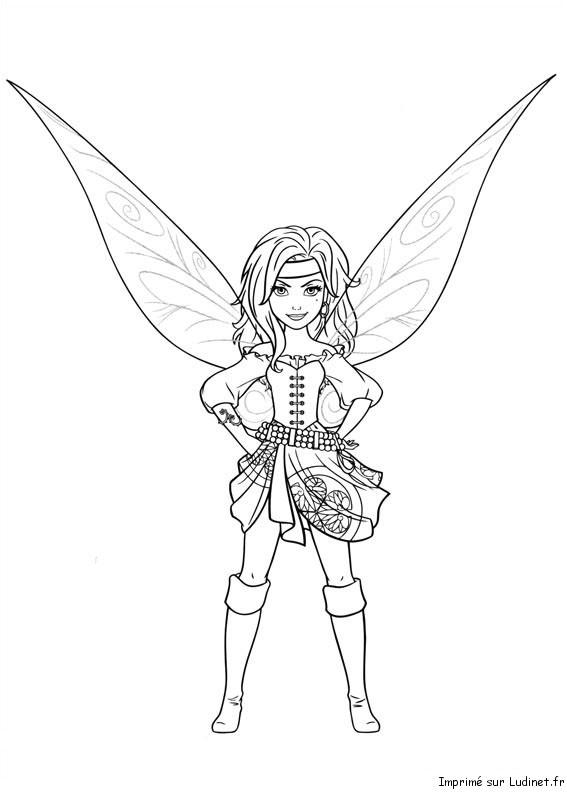dessin a imprimer la fée clochette gratuit