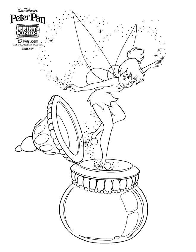 dessin à colorier fée clochette cristal