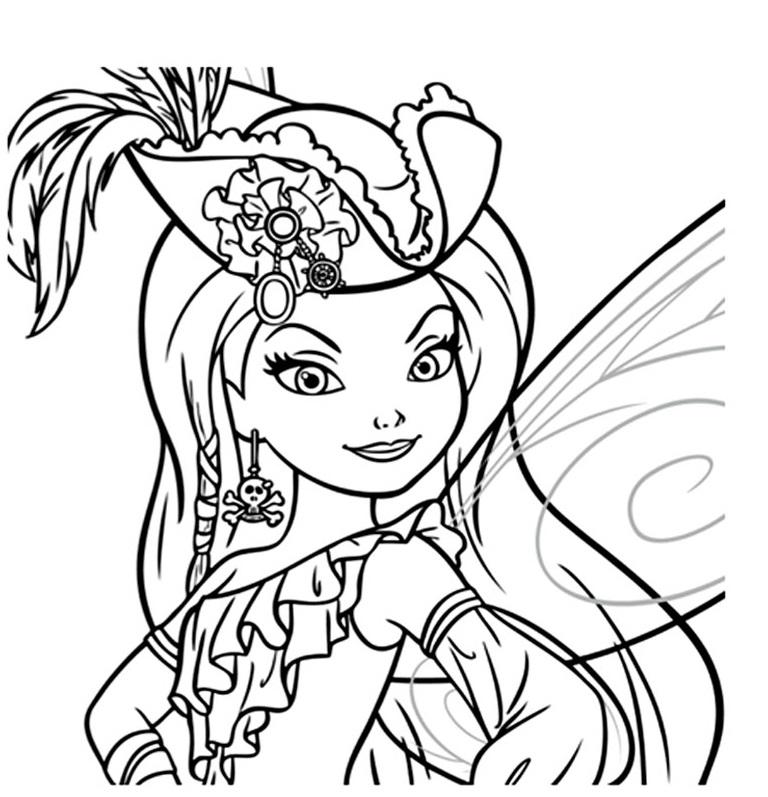 dessin à colorier a imprimer la fée clochette gratuit