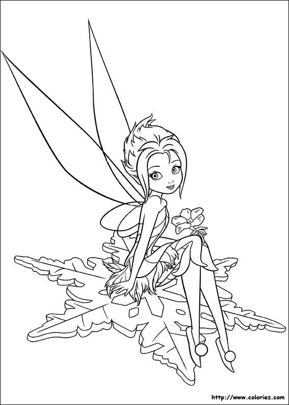fée clochette cristalline dessin