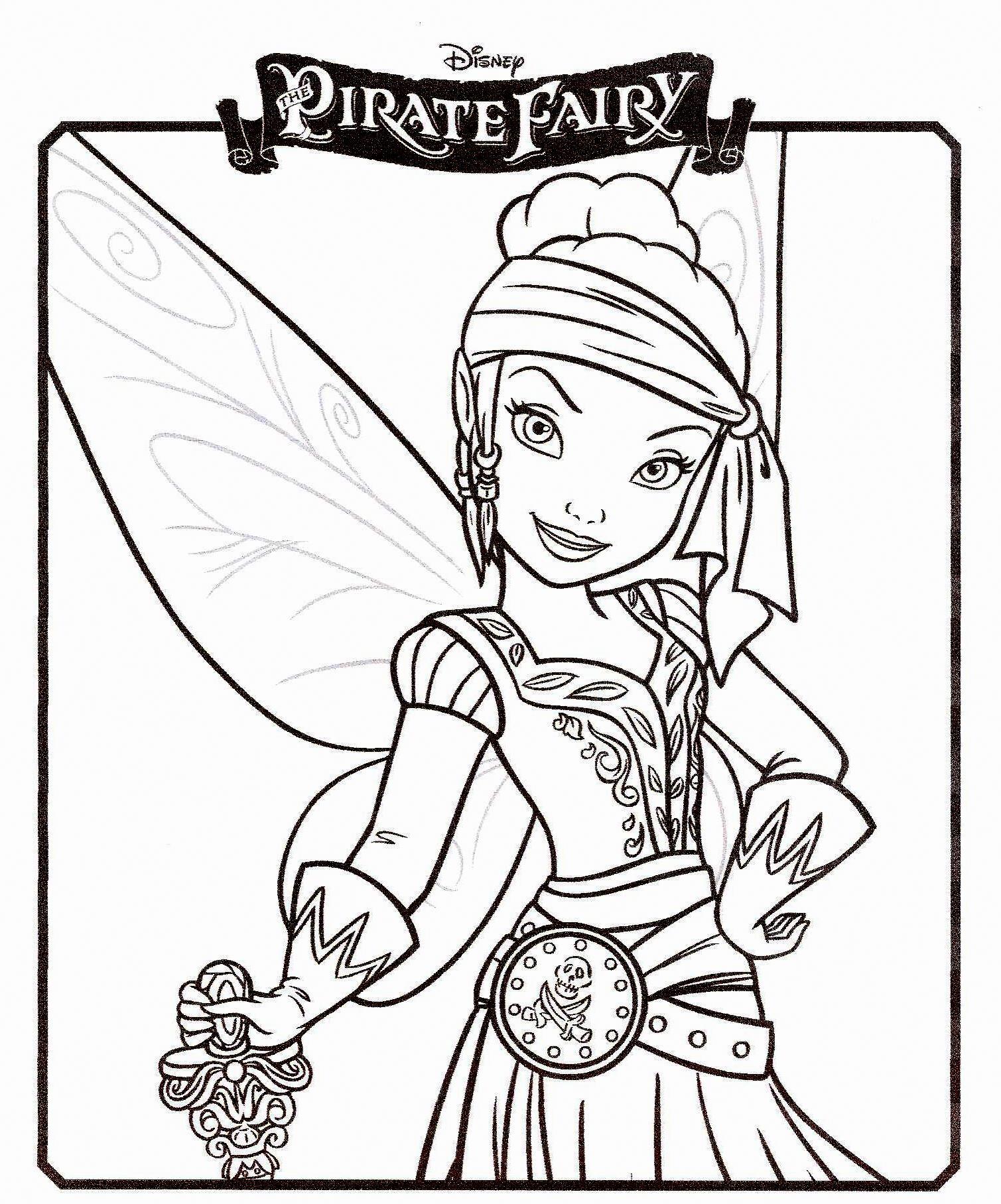 coloriage à dessiner fée clochette ondine