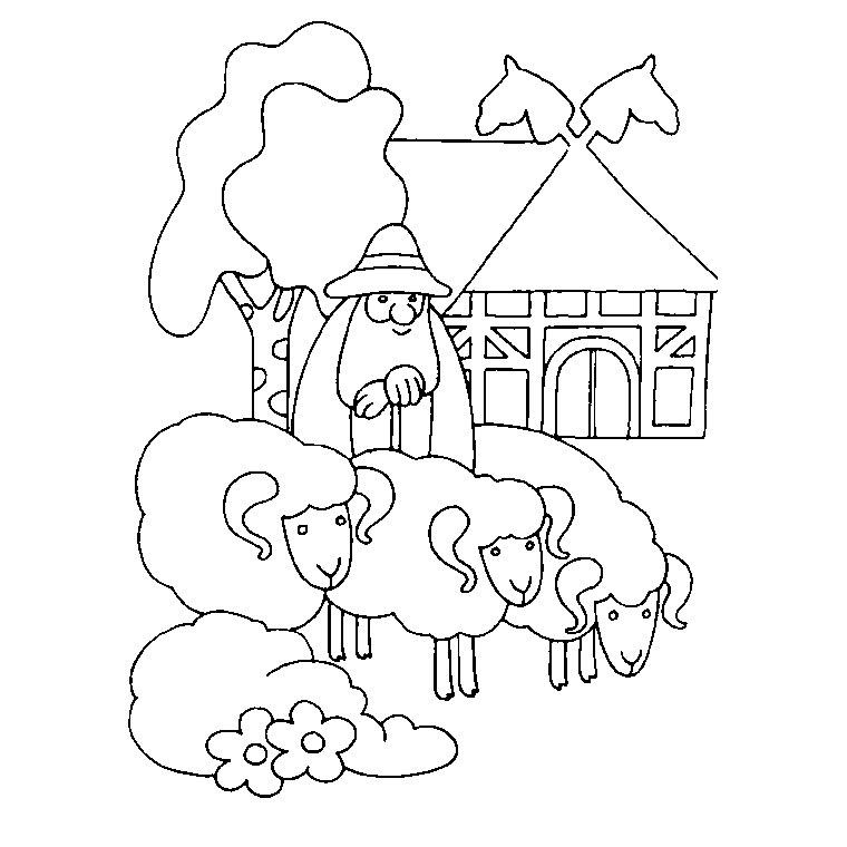 coloriage à dessiner gratuit à imprimer la ferme en folie