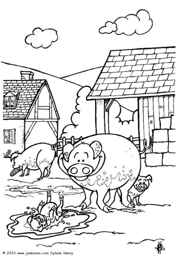 jeux de dessin de la ferme en folie