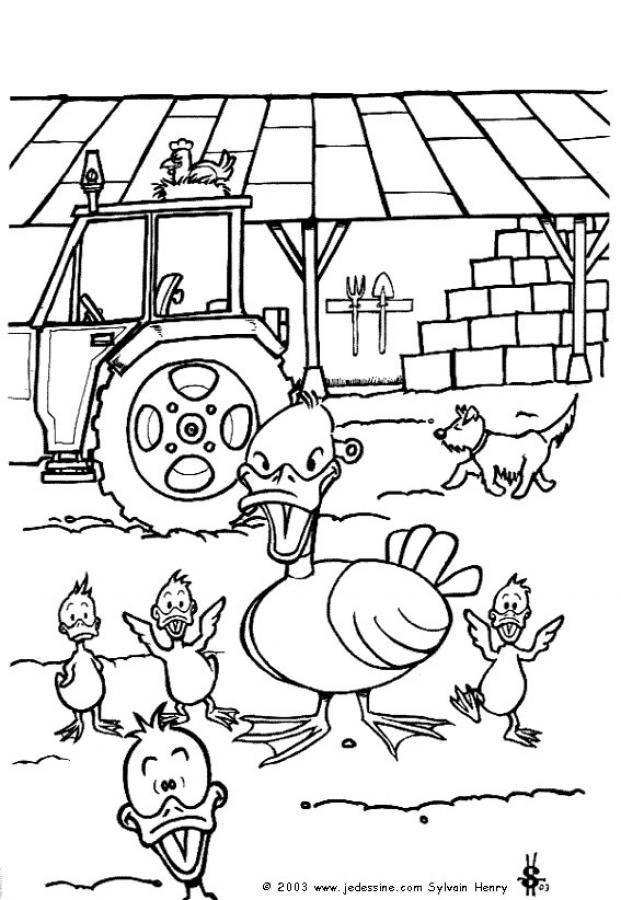 jeux de coloriage de la ferme en folie