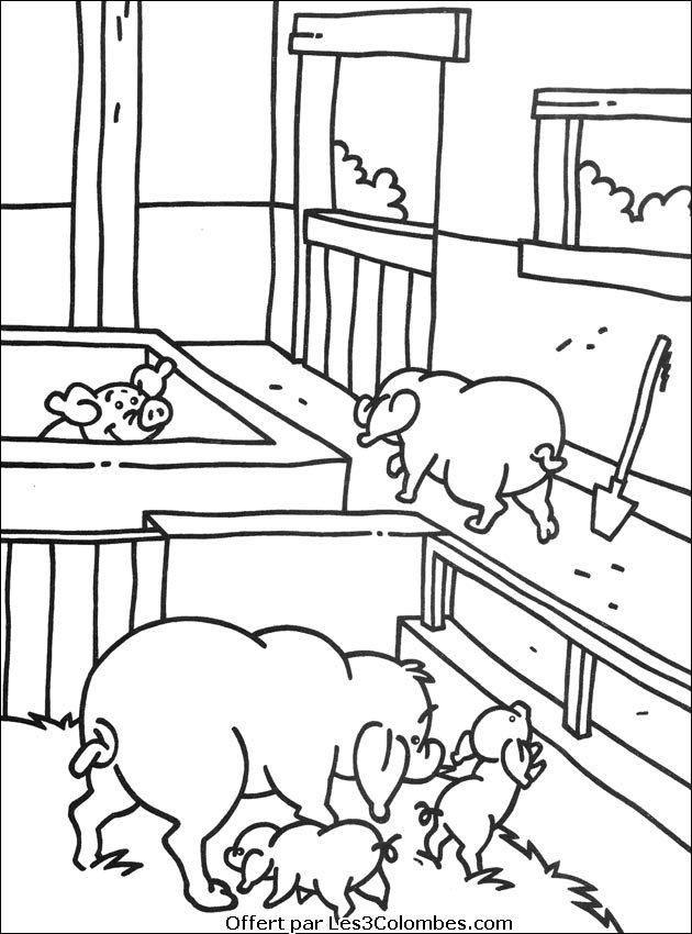 dessin à colorier la ferme en folie a imprimer