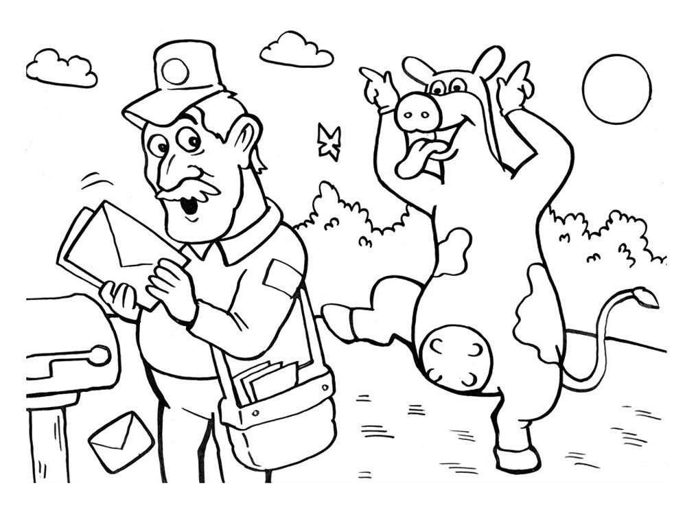 dessin gratuit à imprimer la ferme en folie
