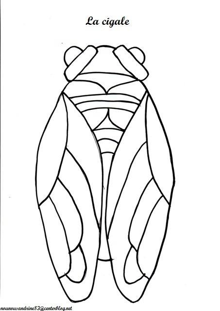 Pin coloriage libellule 7 8 9 on pinterest - Coloriage la cigale et la fourmi ...