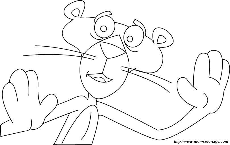 jeux de coloriage à dessiner la panthere rose