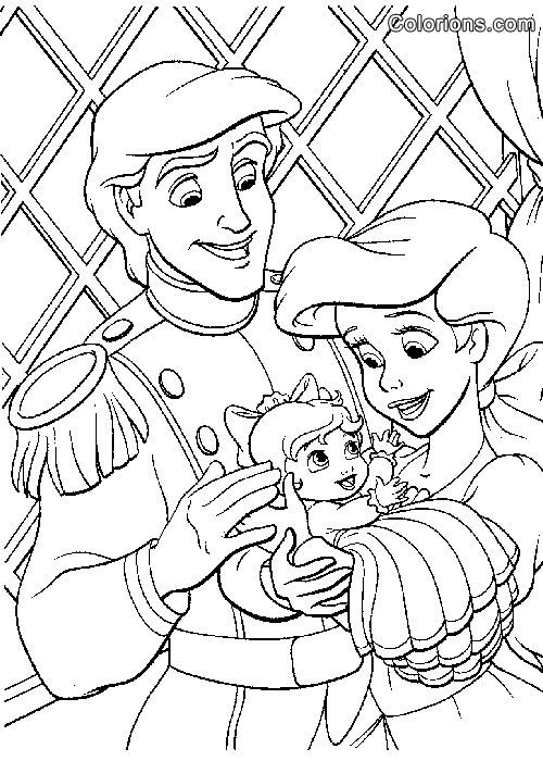 19 dessins de coloriage la petite sirene 2 imprimer - Coloriage arielle la petite sirene ...
