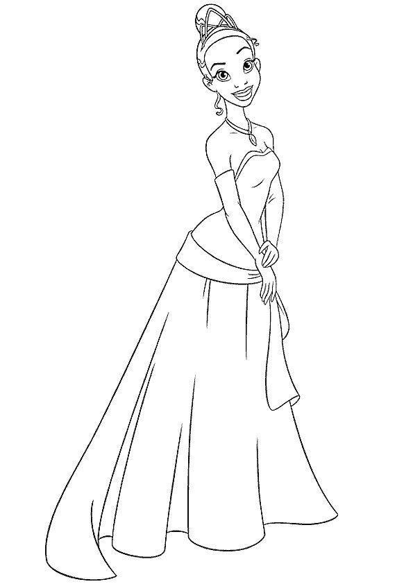 20 dessins de coloriage la princesse et la grenouille - Grenouille a colorier ...