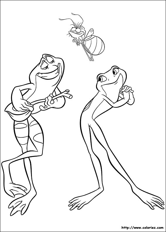 jeux de dessin à colorier la princesse et la grenouille