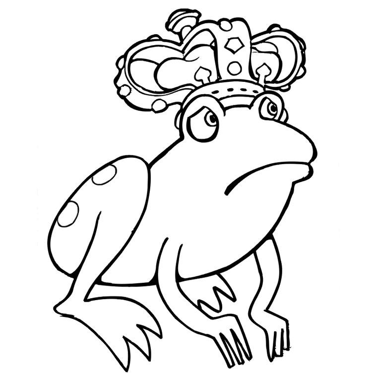 coloriage dela princesse et la grenouille