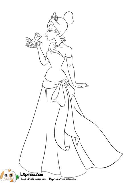 Imprimer coloriage dessiner la princesse et la grenouille - Coloriage la princesse et la grenouille ...