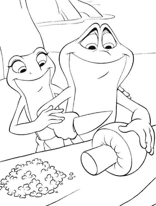 117 dessins de coloriage la princesse et la grenouille imprimer - Coloriage de grenouille ...