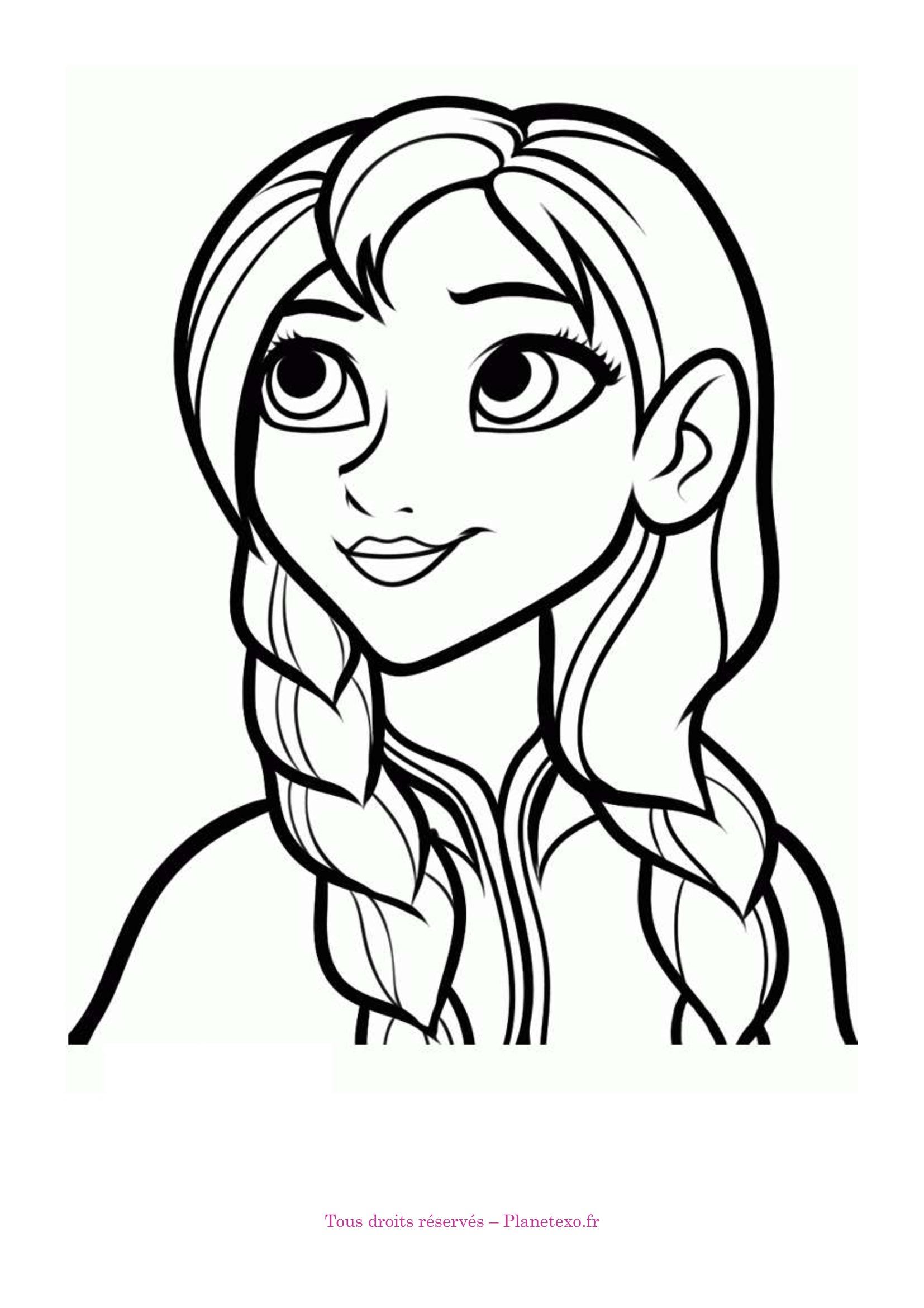 19 dessins de coloriage la reine des neiges anna imprimer - Reine des neiges dessin ...