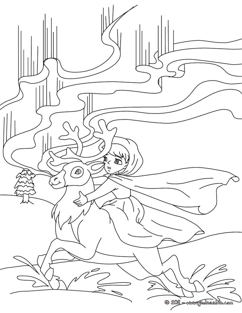 coloriage la reine des neiges hugo lescargot